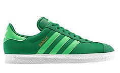sports shoes 4eca5 2adc2 Hues of green cover the lates colorway of the adidas Gazelle Canvas, suede,  and leather continue to compose the classic adidas model.