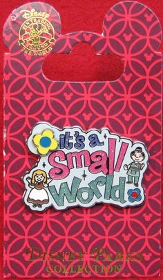 a08854f4e4b Disney It s A Small World Logo Spinner Pin Disney Patches