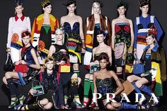 Wearable Art Apparel - Prada's Spring Campaign Boasts Colorful and Artistic Fashion Staples (GALLERY)