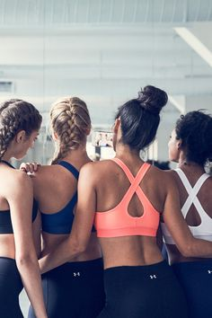 Get by with a little help from your tribe.   The UA Crossback Bra offers all the support you need, just like your crew that helps push you through.