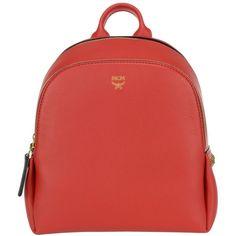 Mcm Mini Polke Studs Backpack (46.835 RUB) ❤ liked on Polyvore featuring bags, backpacks, red, mini zipper bags, red backpack, mcm, red mini bag and mini zip bags