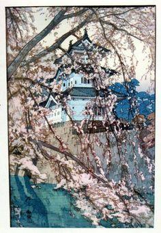 Japanese painting. Hirosaki Castle.