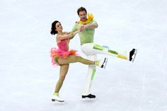 Nathalie Pechalat and Fabian Bourzat of France compete in the Figure Skating Ice Dance Free Dance on Day 10 of the Sochi 2014 Winter Olympic...