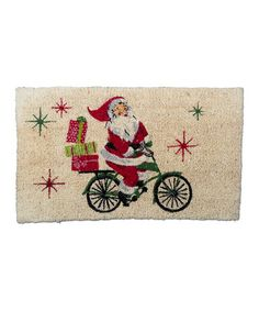 Look at this #zulilyfind! Santa Cycle Coir Door Mat #zulilyfinds