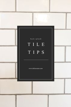 Kitchen Renovation Series: Tile Backsplash Tips // www.deliacreates.com
