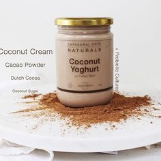 As with all of our products our Cacao Bean Coconut Yoghurt is free from dairy, additives, gums, thickeners, flavourings and preservatives. It is also free from refined sugars, sweetened with a touch of coconut sugar keeping it less than 3.6g of total sugar per 100g 🍫🍫