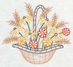 Blooming November Basket (Vintage)