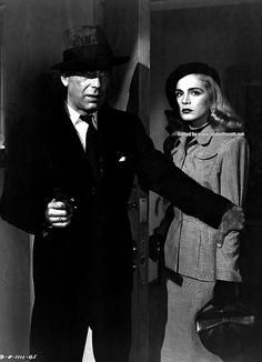 "lizabeth-scott: ""Lizabeth Scott and Humphrey Bogart in Dead Reckoning, 1947 """