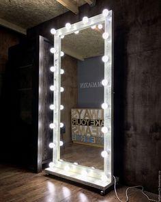 Купить Гримерное зеркало ZERO 190 см на 90 см - кремовый, гримерное зеркало
