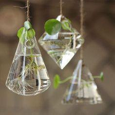 Hanging Terrarium Glass Geometric Planters