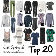 Cabi Spring 2016/Top 20. Get them before they're gone! jeanettemurphey.cabionline.com