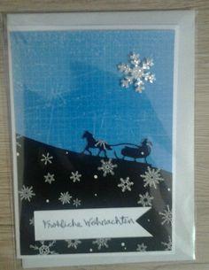 Weihnachtskarte  mal ganz anders mit Stampinup Edgelits creativ by maro