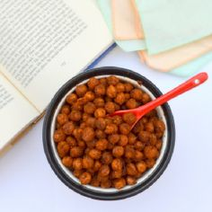 How to make perfectly spiced, healthy, crispy chickpeas.