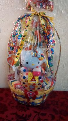 One Left Rainbow Cupcake HELLO KITTY Gift Basket by cappelloscreations, $27.00 @Etsy