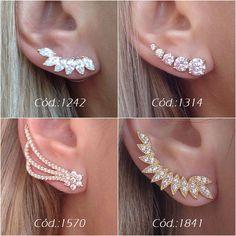 Helix Jewelry, Ear Jewelry, Cute Jewelry, Jewelry Gifts, Jewelery, Tiny Stud Earrings, Cuff Earrings, Cartilage Earrings, Cute Ear Piercings
