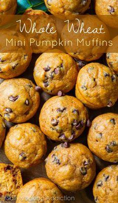 Whole Wheat Mini Pumpkin Muffins.