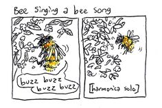 boxrocketcomics:  watching bees do their bee stuff in the back yard