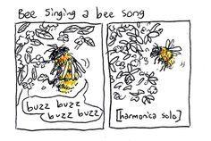 boxrocketcomics:  watching bees do their bee stuff in the back yard