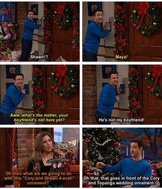 Cory and Shawn forever Cory And Shawn, Cory And Topanga, Boy Meets World Quotes, Girl Meets World, Disney Channel Shows, Disney Shows, Tv Show Quotes, Movie Quotes, Movies Showing