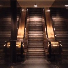 Escalator. Rockefeller Center.