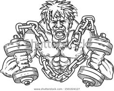 Find Cartoon Style Illustration Muscular Buffed Ripped stock images in HD and millions of other royalty-free stock photos, illustrations and vectors in the Shutterstock collection. Thousands of new, high-quality pictures added every day. Sports Art, Cartoon Styles, Chains, Retro Fashion, Athlete, Royalty Free Stock Photos, Black And White, Illustration, Artist