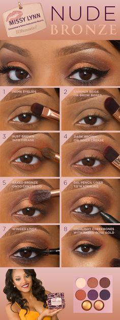 Black Women Makeup Tips For Dark Skin - Copper Eyes & Nude Lip ...