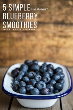 These super smoothies pack a nutrient dense punch, making for a healthy start to the day or a nutritious snack and energy boost in the afternoon. Nutritious Snacks, Yummy Snacks, Healthy Snacks, Healthy Afternoon Snacks, Good Smoothies, Different Recipes, Smoothie Recipes, Blueberry, Eat