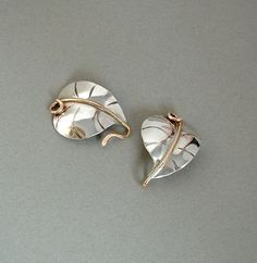Vintage STERLING Silver Leaf CLASP Organic Heart Shape Jewelry Finding SUPPLY #VintageSterlingClasp #SterlingBraceletClasp #JewelrySupplies