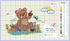 Cross Stitch Baby, Cross Stitch Embroidery, Baby Teddy Bear, Loom Patterns, Loom Beading, Baby Toys, Couture, Sewing, Pets