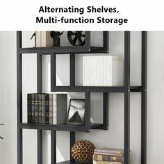 "Ebern Designs Kunigunde 69.29"" H x 39.37"" W Library Bookcase & Reviews   Wayfair Media Cabinets, Bookcase, Shelves, Storage, Furniture, Home Decor, Purse Storage, Shelving, Decoration Home"