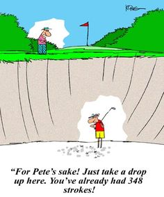 Golf Cartoon: Sand Trap
