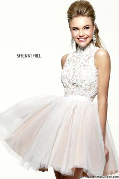 Sherri Hill Short Homecoming Dress 21345 at Peaches Boutique