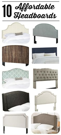 WOW! All of these gorgeous headboards are UNDER $300! Fabulous source list of…