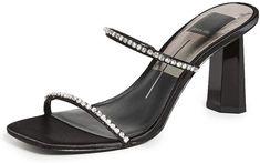 Amazon.com | Dolce Vita Women's Naylin Slides, Black, 9.5 Medium US | Sandals Dress Up Outfits, Block Heels, Amazon, Sandals, Medium, Luxury, Black, Fashion, Moda