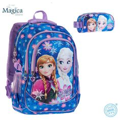 FROZEN DISNEY large backpack 44cm+pencil case bag **Anna and Elsa** #FROZENDISNEY