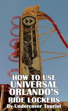 Ready for Universal's roller coasters? First, you have to learn how to use the ride lockers. Pin now, read later when you're headed to the parks. #Universal #Orlando #rides