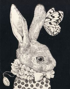 Higuchi Yuko  I love rabbits and butterflies and I collect rabbits that have a butterfly on them.