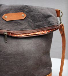 Canvas & Leather Messenger Bag