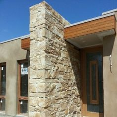 Stone and timber feature