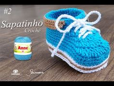 Sapatinho de Crochê para Bebê | Parte 1 | Professora Simone - YouTube