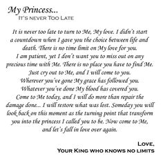 Love letter from the King who knows no limits