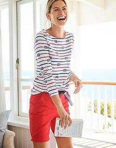 Crew - Essential Rope Breton T-Shirt Smart Casual Wardrobe, Tunic Tops, Tees, T Shirt, Shopping, Women, Style, Fashion, Supreme T Shirt