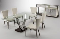 Modern Dining Room Table And Chairs.Modern Dining Room Design And Decorating In Vintage Style . Black Eco Leather Modern Formal Dining Room Table W Chrome . Transform The Way You Dine Using Japanese Style Dining . Home and Family Luxury Dining Tables, Modern Dining Room Tables, Dining Table Chairs, Dining Rooms, Kitchen Chairs, Room Chairs, Glass Dining Room Sets, Glass Top Dining Table, Table 19