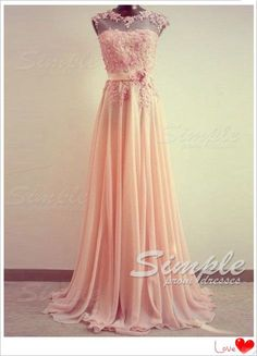 Cheap Custom Made A-line Lace Prom Dress, Long Bridesmaid Dress, Formal Dress, Wedding Party Dress, Evening Dresses $182.99