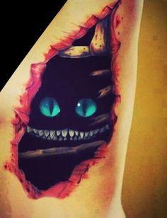 Cheshire Cat tattoo soo creepy and soo amazing!!