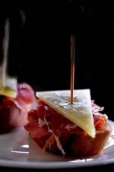 Serrano Ham and Manchego Cheese Pintxo