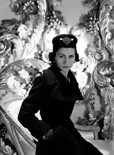 Coco Chanel, photo by Horst P. Horst, 1937.