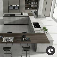 amazing luxury kitchens design ideas with modern style 1 « Home Design Luxury Kitchen Design, Luxury Kitchens, Interior Design Kitchen, Home Kitchens, Home Decor Kitchen, Kitchen Furniture, Kitchen Ideas, Küchen Design, House Design