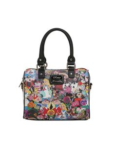 Loungefly Disney Alice In Wonderland Tossed Character Barrel Bag | Hot Topic