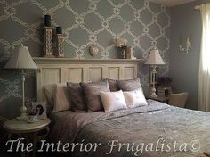 turning a door into a beautiful headboard, bedroom ideas, diy, how to, repurposing upcycling, Beautiful Mantle Headboard After
